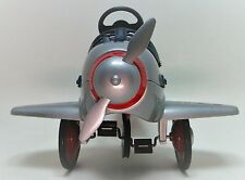 Plane Pedal Car WW2 Vintage Mustang P 51 Silver Body Aircraft Midget Metal Model
