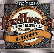 Ernie Ball Earthwood Phosphor Bronze Acoustic Strings 11-52 2148, Light FREE P&P