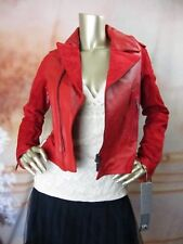 NWT ZAC POSEN for Target Soft Red Leather Moto Jacket Size M