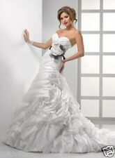 MAGGIE SOTERRO 10 NEW LT IVORY ORGANZA WEDDING DRESS A-LINE BALLGOWN  >NO BELT<