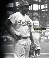 1950's Original Photo Negative JACKIE ROBINSON Brooklyn Dodgers at Ebbets Field