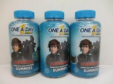 3 ONE A DAY KIDS COMPLETE MULTIVITAMIN DRAGON THEME 180 GUMMIES EA 8/20 AW 2661
