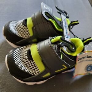 Brand New Garanimlas Infant Athletic Cage Shoes Black Gray Lime Youth Size 5