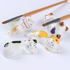 Nail Brush Pen Rack Ceramic Stand Holder Fortune Cat Manicure Random Pattern