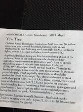 m1-3 ephemera 1984 Small Article The Pub Yew Tree Rochdale D Dawson