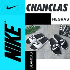 Nike chanclas playa deportes gimnasio blancas y negras variedad en tallas