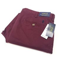 Polo Ralph Lauren Men's Stretch Slim Fit Chino In Classic Red Size 34W/32L