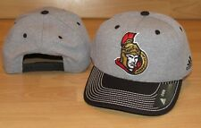 Adidas Ottawa Senators Line Change Snapback Heathered Grey Hat Cap Men's