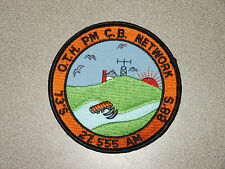 NOS New Ham Radio CB Patch O.T.H. PM C.B. Network 73'S 27.555 AM 88'S