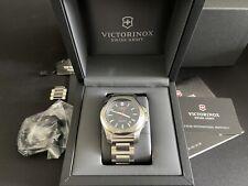 Victorinox INOX Watch Steel Bracelet Black Dial Brand New Boxed