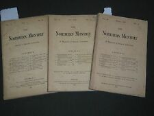 1867-1868 THE NORTHERN MONTHLY MAGAZINE OF GENERAL LITERATURE LOT OF 3 - WR 870