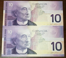 CANADA LOT OF 2 IN A ROW 10 DOLLARS 2001 BC63A - UNC