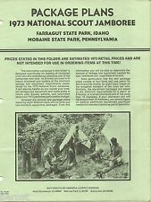 BOY SCOUT 1973 JAMBOREE EQUIPMENT PACKAGE PLANS - FREE SHIPPING        XX