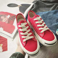 New Womens Lace Up Sneakers Retro Casual Canvas Shoes Korean Version Of Wild