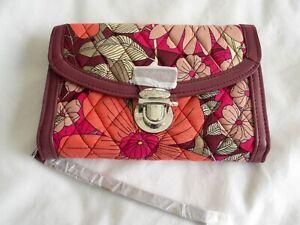 Vera Bradley Bohemian Blooms Ultimate Pushlock Wristlet NWTS Free ship U.S.