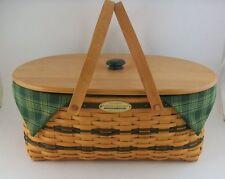 Longaberger Generosity Basket and Lid liner tie 2 protectors 1 w/sections