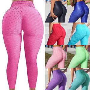 MITAOGIRL Women Anti-Cellulite Yoga Pants High Waist Ruched Butt Lift Leggings