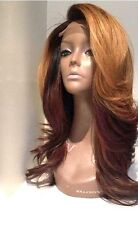 "16""  #1b/#30 Ombre Brazilian Body Wave Glueless Full Lace Wig with Baby Hair"