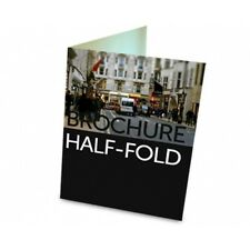 """2500 Half Fold Glossy Brochures REAL PRINTING not copies 8 1/2"""" x 11"""" Full Color"""