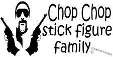 FUNNY FAMILY STICKER CHOP CHOP STICK FIGURE FAMILY CHOPPER READ STICKER