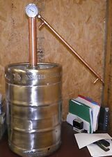 15.5 Gal. Beer Keg Moonshine Still With Copper Whiskey Column