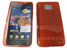 Pour Samsung Galaxy S S2 GT 2 i9100 i9103 gel case housse protection rouge nouveau