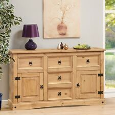 corona 2 door 5 drawer sideboard Solid Wax Light Pine Free Delivery