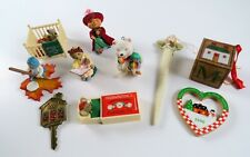 Lot of 10 Vintage Mostly 1990's Hallmark & Other Christmas Ornaments & Decor