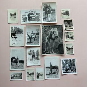 Vintage Horse Rider Photos- vintage Cowboy Photo Lot / #78