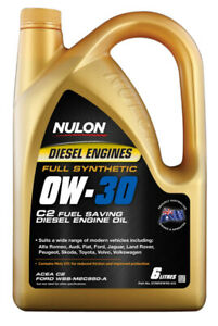 Nulon Full Synthetic Diesel Fuel Conserving Engine Oil 0W-30 6L