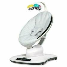 4Moms Mamaroo 4 Infant Baby Reclining Rocker Bouncer Swinging Seat, Classic Gray