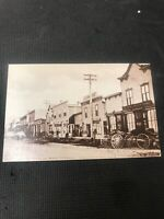 postcard Vintage Kelowna South Main Str 1909 B.C. Pioneer Card Repro  I01