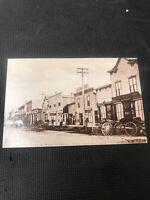 postcard Vintage Kelowna South Main Str 1909 B.C. Pioneer Card Repro  I01