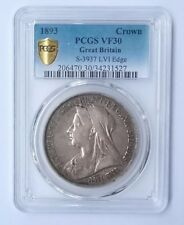 1893 Crown Great Britain PCGS VF30 + Tracking