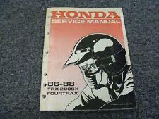 1986-1988 Honda TRX200SX Fourtrax Motorcycle Shop Service Repair Manual 1987