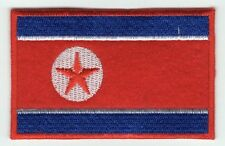 North Korea DPRK Flag Patch Felt Embroidered Iron On Applique