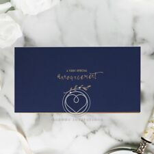 Wedding Invitation - Forever Love Booklet - Navy / BH6102 / Sample Only