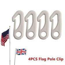 4 PCS Flag Pole Clip Snap Hooks Nylon Flagpole Attachment Hardware