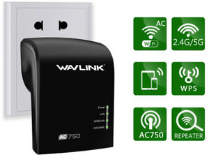 2.4G/5GB Wavlink AC750 Wifi Repeater Range Extender Dual ooster Signal Amplifier