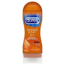 Durex Massage & Play 2 in 1 Gel, Intensify, 6.76 oz + Makeup Sponge