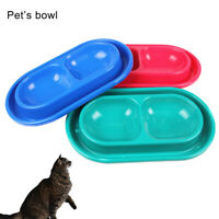 KQ_ FP- FT- ITS- KQ_ Dog Cat Food Water Dish No Slip Feeder Double Dispenser Bow