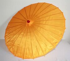 Sonnenschirm 010 Deko Schirm Kunstfaser wasserfest orange Bambus Holz Bali