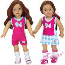 """3 Piece Sports Uniform Field Hockey Soccer Lacross fit 18"""" American Girl Doll"""