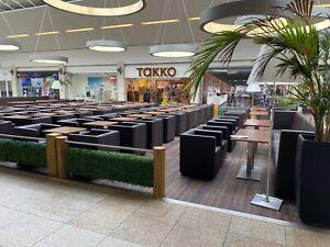 Eiscafé Einrichtung Café Laden Sessel Tische Bänke Gastronomie Trennwände VB