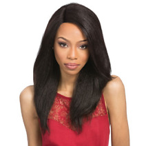Outre Velvet 100% Remy Human Hair Lace Front Wig L Part PERM YAKI 18 COLOUR 1B