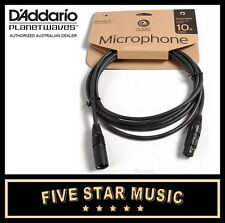 D'ADDARIO PLANET WAVES CLASSIC MIC CABLE 10' PW-MIC-10 MICROPHONE LEAD NEW