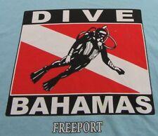 Vintage Dive Bahamas Freeport Scubadiving Vacation Blue Ss T Shirt Size Xl