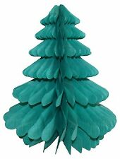 Christmas Paper Tree Honeycomb Table Centrepiece hanging Decoration 27cm.