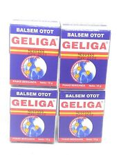 Geliga Balsem Otot Muscular Balm Repeated Heat, 10 Gram /0.35 Oz (Pack of 4)