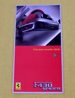 Ferrari F430 Spider - RARE Owners Handbook Supplement - 2005 - Portuguese Text